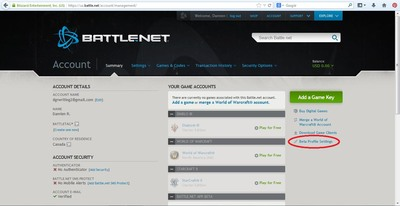 Battlenet Beta settings