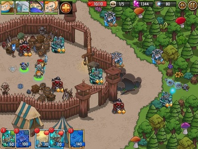 Crazy Kings Tower Defence Game Outpost Map