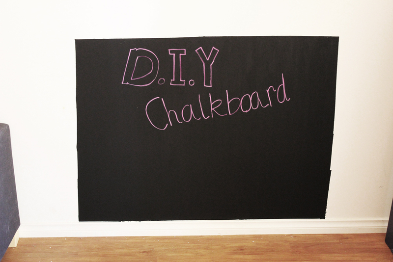 Diy Chalkboard Wall Diy Blackboard Wall Diy Home Decor