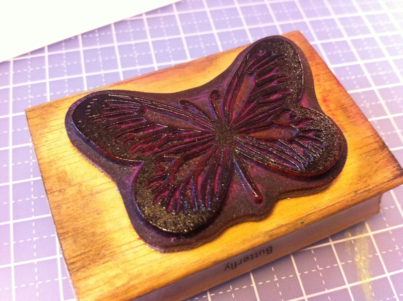 emboss, embossing powder, rubber stamp, butterfly, craft ...