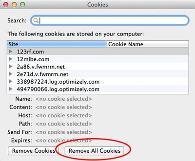 firefox, OSx, cookies, Preferences