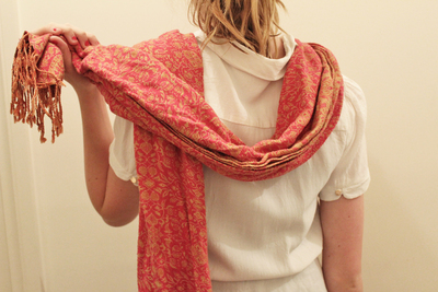 how to tie a scarf, ways to wear a scarf, loop scarf