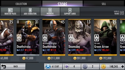 Injustice Gods Among Us Mobile Gear Booster Pack