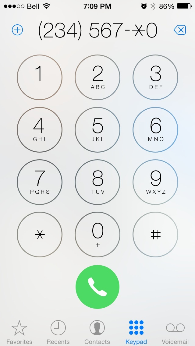 iPhone extension autodial