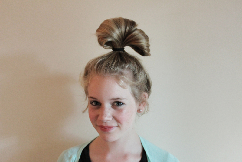 Bow Looking Bun Hairstyle Bow Looking Bun Hairstyle LONG HAIRSTYLES