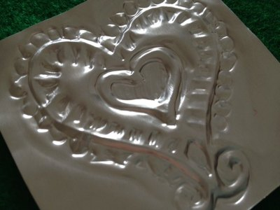 metal embossing, emboss, craft, heart, aluminium, simple, design