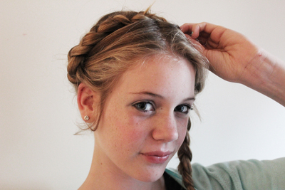milkmaid braids, germain braids, hair braids, hair styles, wedding hair, formal hair, prom hair