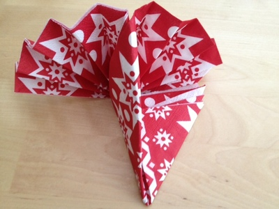 napkin, fold, fan, folding, table decoration, christmas