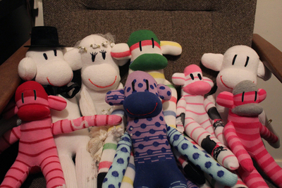 sock monkeys, how to make a sock monkeys, sock monkey tutorial