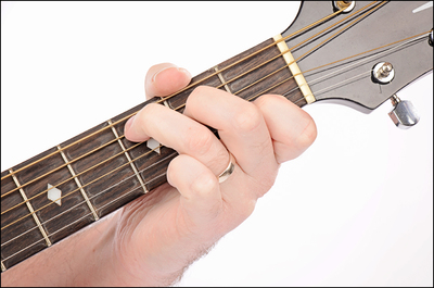 The C Major chord on Guitar