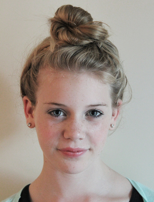 top knot, messy bun, hair styles, hair styling